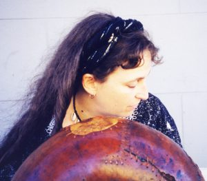 Erica playing mbira – 1999
