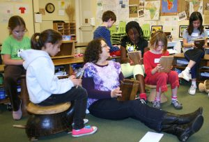 3rd Graders at Nueva School learn mbira from Erica Azim
