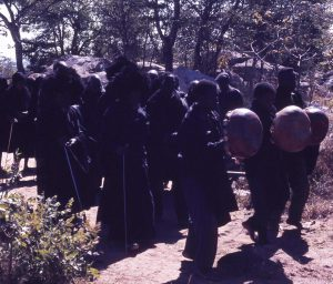 Procession at Mujuru Bira 1971 - photo by R. Garfias