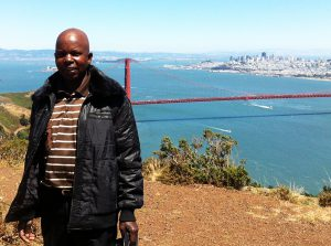Leonard Chiyanike Visits the Golden Gate Bridge in California 2012