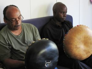 Eric Ferrer & Leonard Chiyanike Play Mbira at 2012 Mbira Camp