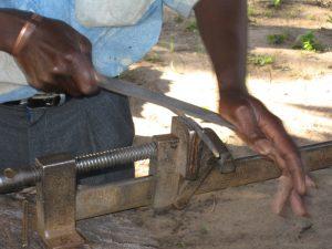 Chiyanike filing mbira key