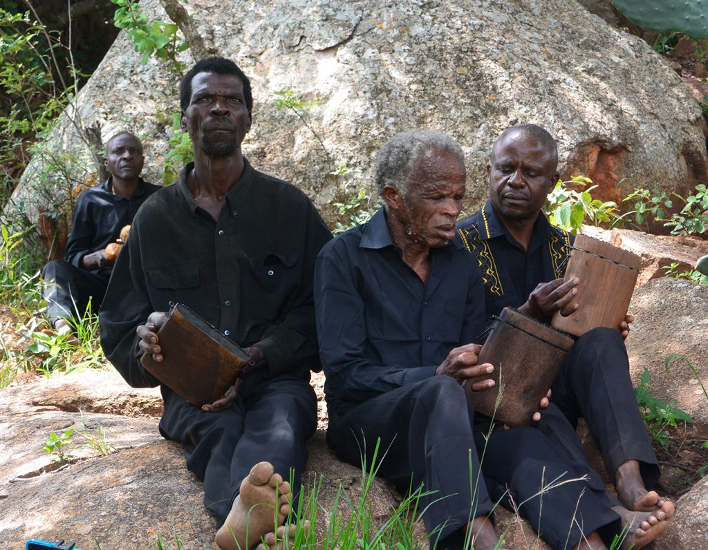 Dambatsoko Mbira Group in their village in 2016