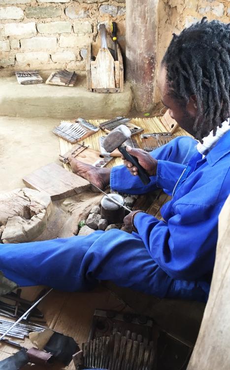 Edison Chivese pounding key