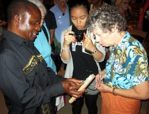 Fradreck Mujuru demonstrates mbira at the Metropolitan Museum of Art in New York in 2014