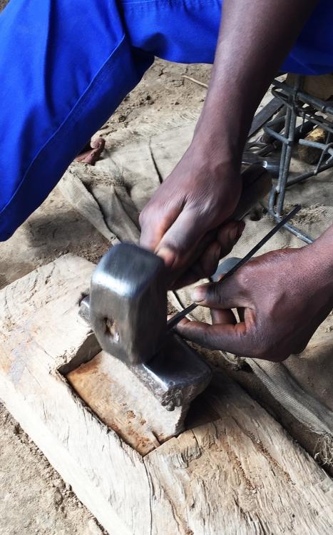 Munashe Chivese pounding key