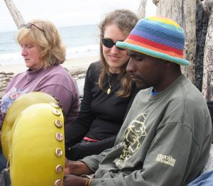 Renold Shonhai teaching at Mbira Camp 2010