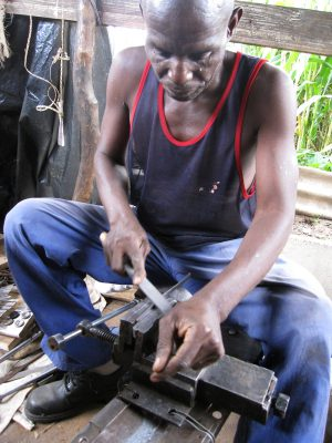Simboti filing an mbira key