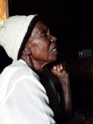 Recording 86-year old Ambuya Botsa, lead singer of Tangai Chinyakare, in 2010