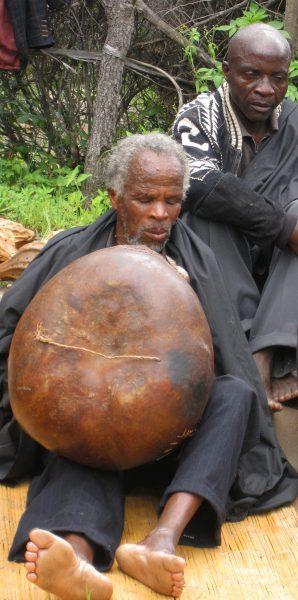 Fungai Mujuru plays mbira at Dambatsoko (Mujuru Village)