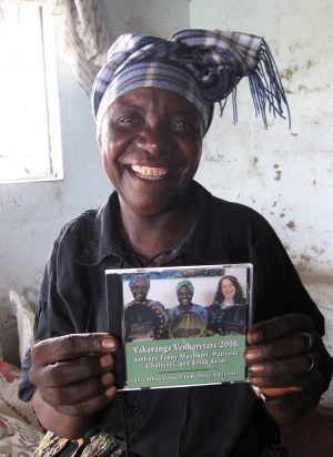 Jenny Muchumi with her CD