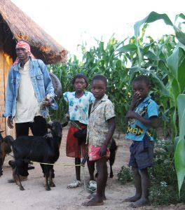 Alois Mutinhiri, children & crops 2009