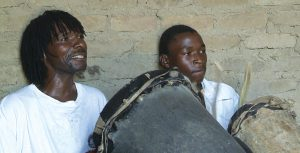 Caution & son Lasson Shonhai drumming 2011.