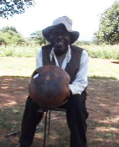 Davison Masiza playing mbira dzaVaNdau