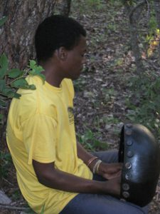 Denver Banda mbira time in the forest