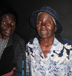 Female Elders of the Dzepasichigare Singers preparing to be recorded in 2009 at Magaya Village, Mhondoro