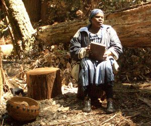 Irene Chigamba in the Redwood Forest Mbira Camp 2006