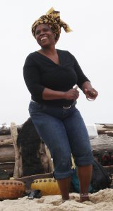 Irene Chigamba Teaching Dance at the Beach Mbira Camp 2006