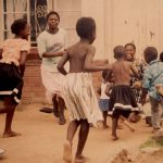 Muchena kids dance to father Mondrek Muchena's mbira 1991