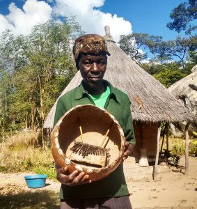 Ephraim Masarakufa holding his madhebhe