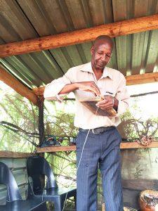 Tiri Chiongotere wiring a mbira