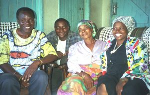 Tute Chigamba 1999 with first wife Laina and 2 of his children (Henry and Irene)