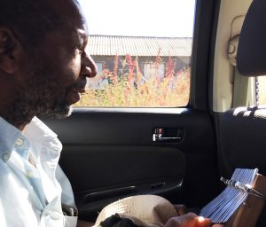 Tiri Chiongotere playing mbira in car 2019